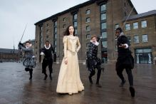 Prince of Denmark - Young Ophelia and cast outside old warehouse
