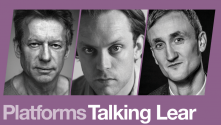 Talking Lear Part 2.  Photos of Stephen Boxer, Sam Troughton and Tom Brooke
