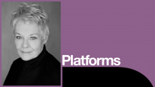 Judi Dench Platform with photo of Judi Dench