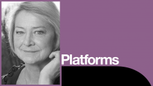Kate Adie Platform with photo of Kate Adie