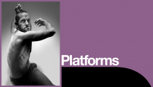 Lloyd Newson Platform with photo of Hannes Langolf, by Hugo Glendinning