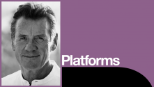 Michael Palin Platform with photo of Michael Palin