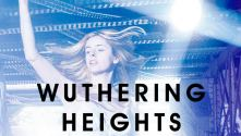 National Youth Theatre: Wuthering Heights, Title in black, over a photo of a young woman dancing in a nightclub