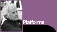 Richard Eyre Platform, with photo of Richard Eyre