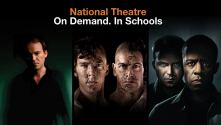 Images of Rory Kinnear (Hamlet), Benedict Cumbrbatch and Jonny Lee Miller (Frankenstein) and Rory Kinnear and Adrian Lester (Othello)