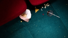 The Flick poster - photo of a cinema floor