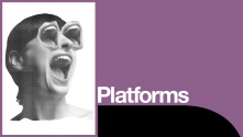 We Want You To Talk Platform. Montaged photo of a screaming woman's head with a screaming mouth for both eyes