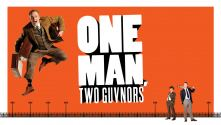 One Man Two Guvnors poster with Owain Arthur