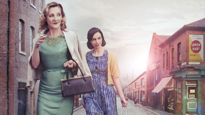 A Taste of Honey with Lesley Sharp and Kate O'Flynn on a terraced street