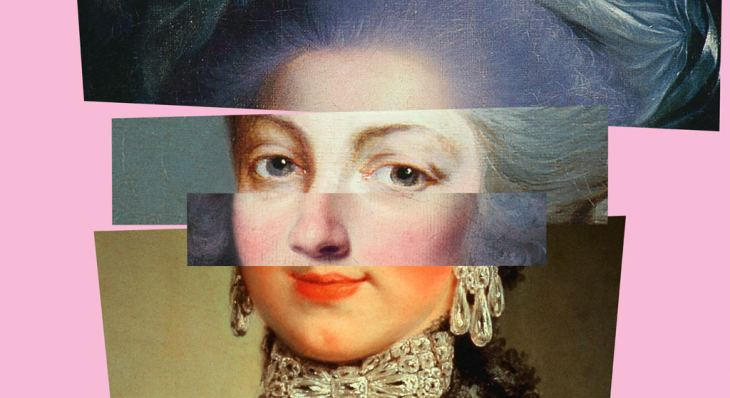 The Beaux' Stratagem - Portrait of an 18th century woman, collaged and retouched