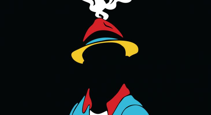 The Motherf**cker with the Hat. Illustration of a head with a hat but no face