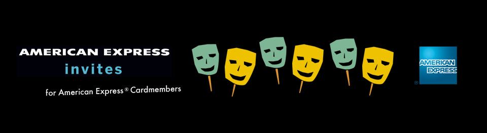 American Express Invites with Comedy and Tragedy masks