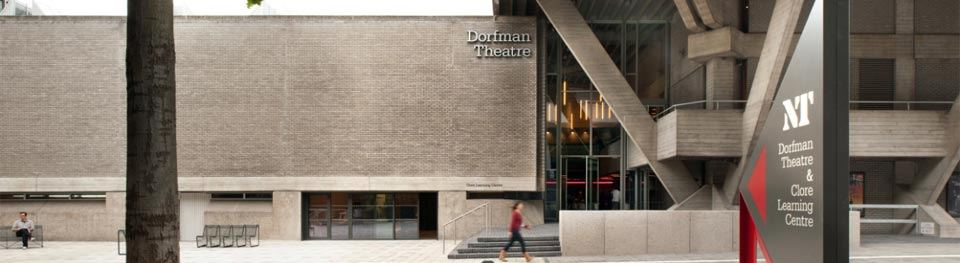 The Dorfman Theatre exterior and the Clore Learning Centre