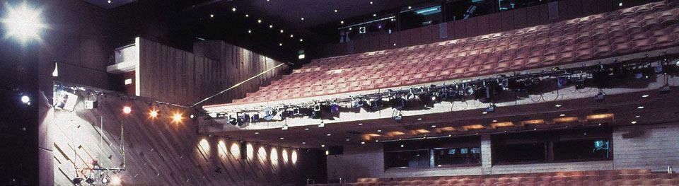 Inside the Lyttelton Theatre auditorium